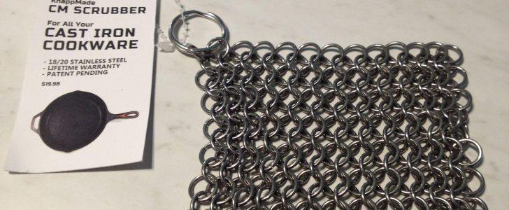 chain mail cast iron scrubber