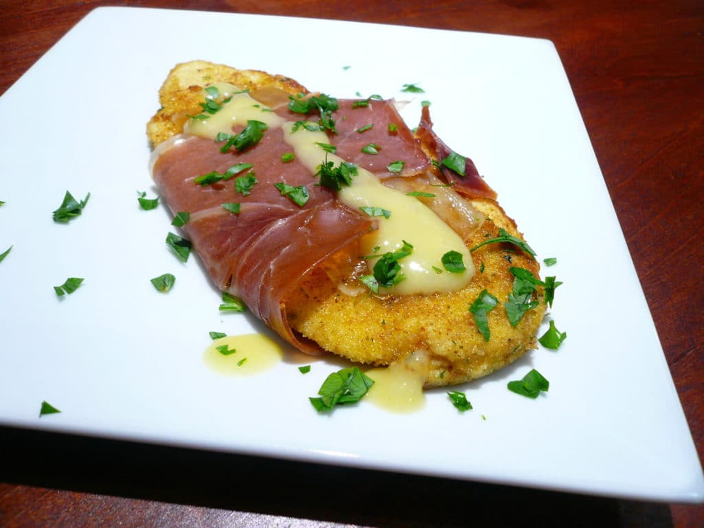 Inside out chicken cordon bleu recipe