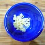 2 cloves of garlic diced